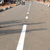 Newly constructed Constain Isonorho Road now Gani Fawehimi Layout
