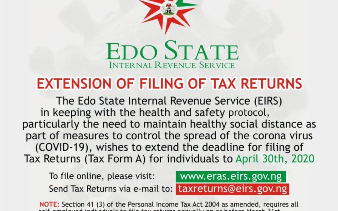PUBLIC NOTICE:EXTENSION OF THE FILING OF TAX RETURNS