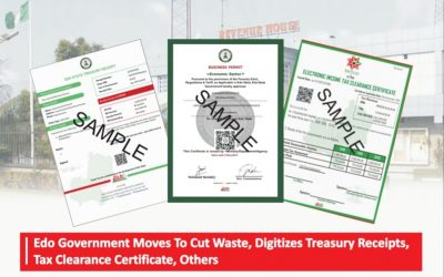 Edo Govt Moves To Cut Waste, Digitizes Treasury Receipts, Tax Clearance Certificates, Others